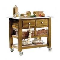 Mesa de cocina con mármol 100 cm.