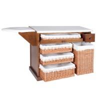 Mesa de plancha con cesto 105 cm.