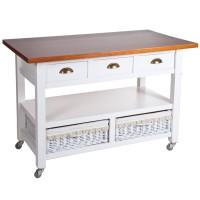 Mesa cocina madera 125 cm.