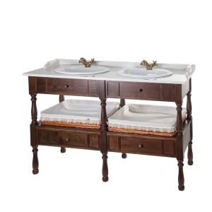 Mueble baño con lavabo antiguo 144cm