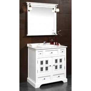 Conjunto mueble baño con espejo 84 cm