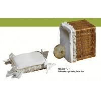 Taburete caja baño forro liso 38 cm