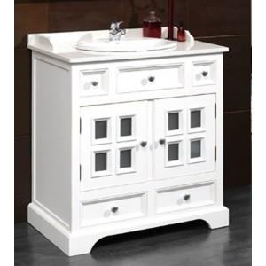 Mueble baño con lavabo 84 cm