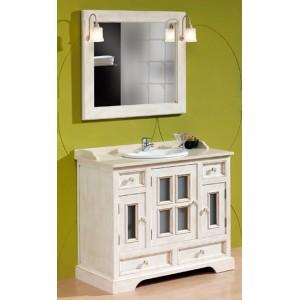 Conjunto mueble baño con espejo 104 cm