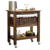 Mesa cocina con ruedas 80 cm.